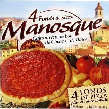 Fonds de pizza cuits au feu de bois de chêne et de hêtre - Surgelés - Promocash Castres