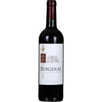 Bergerac La Passe de Seyrac 12,5° 75 cl - Vins - champagnes - Promocash LA FARLEDE