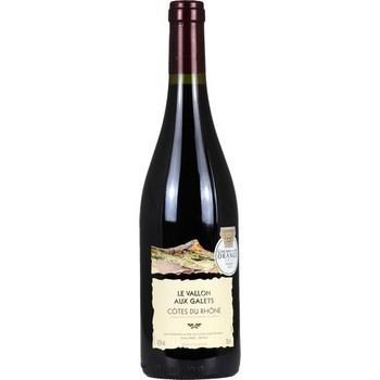 Côtes du Rhône Le Vallon aux Galets 14,5° 75 cl - Vins - champagnes - Promocash Morlaix