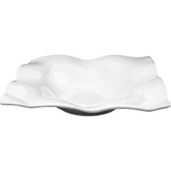 Assiette carrée creuse en porcelaine 27cm - Bazar - Promocash Thionville
