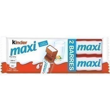 Barres chocolatées fourrées lait x2 - Epicerie Sucrée - Promocash Gap