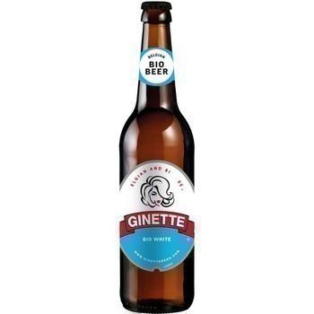 Bière blonde Ginette blanche 33 cl - Brasserie - Promocash Saint Malo