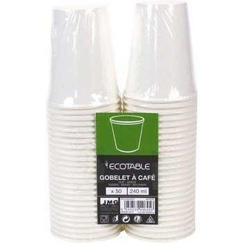 Gobelet à café 240ml blanc x50 - Bazar - Promocash Albi