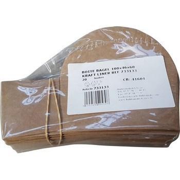 Boites Bagel Kraft 100x46x60 x20 - Bazar - Promocash Albi