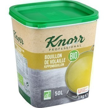 Bouillon de volaille bio - Bio 1 kg - Epicerie Salée - Promocash LA FARLEDE